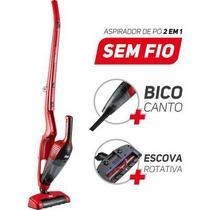 Aspirador de Pó Portátil e Vertical Wap Sem Fio - 12 VDC Turbo Mob Vermelho e Preto -