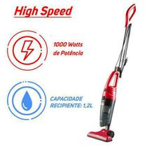 Aspirador de Pó Vertical WAP High Speed Portátil - Vermelho - 110V -