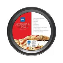 Assadeira Redonda Teflon Para Pizza 35cm X 1,5cm Yangzi -