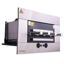 Assador a Gás de Embutir 4 Espetos Inox AGE-04 Titan -