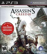 Assassins Creed III 3 - PS3 - Ubisoft