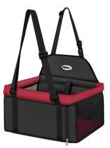 Assento big transpet vermelho e preto tubline para carro para transporte de cães e gatos até 15kg -