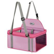 Assento Carro Cães 15kg Transpet Big Tubline Cadeira Rosa -