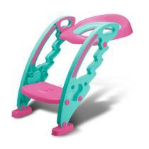 Assento Com Redutor Escada Vaso Trono Troninho Infantil rosa multikids baby -