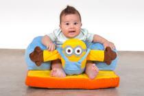 Assento De Bebê - Sofazinho Cadeirinha Multiuso Minions Azul - Império Do Bebê