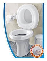 Assento De Vaso Sanitário Elevado 7,5cm Almofadado Com Tampa - Mebuki