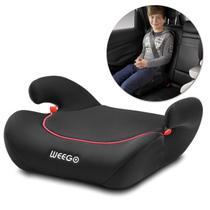 Assento Elevação Infantil Automotivo 22 A 36kg Universal Turbooster Weego Para Criança Preto Rosa - Multilaser