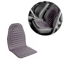 Assento Encosto Massageador Cinza  Nissan March Versa e Universal - Garagem12