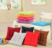 Assento futon p/cadeira oxford com cordinha   kit com 6 peças   0,40 x 0,40 cm - Vera Lúcia Confecções