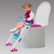 Assento Infantil Redutor Rosa Com Escada Buba -