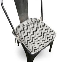 Assento Para Cadeira Algodão Missoni 40x40cm Preto - Ecaza