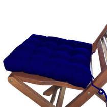 Assento Para Cadeira Futon 40x40 Cm - Azul Royal - Casa Ambiente