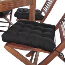 Assento Para Cadeira Futon - Preto - Couro Cor & Cia