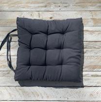 Assento Para Cadeira Futton 40x40 Cm - Chumbo - Artesanal Teares