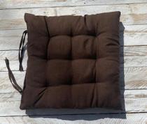 Assento Para Cadeira Futton 40x40 Cm - Marrom - Artesanal Teares