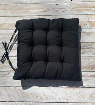 Assento Para Cadeira Futton 40x40 Cm - Preto - Artesanal Teares