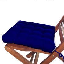 Assento Para Cadeira Kit Com 6 Peças Futon Azul Royal - Artesanal