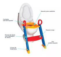 Assento Redutor Infantil com Escada Elevado para Vaso Sanitario - B.a.