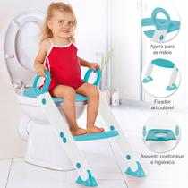 Assento Redutor Infantil Vaso Sanitário Escada Desfralde Azul Buba 11993 -