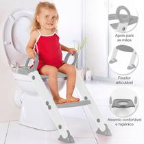Assento Redutor Infantil Vaso Sanitário Escada Desfralde Cinza Buba -