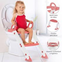Assento Redutor Infantil Vaso Sanitário Escada Desfralde Rosa Buba 11992 -