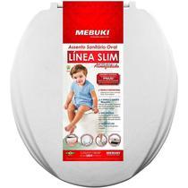 Assento Sanitário Almofadado Oval Slim Cinza Claro Mebuki -
