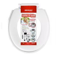Assento Sanitário Almofadado para Cadeira de Banho Fechado - Mebuki