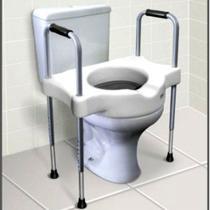Assento Sanitário Elevado 11cm com Barras Laterais Reguláveis em Alumínio Sit V Carci -