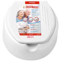 Assento Sanitário Elevado 13,5cm Branco - Mebuki -