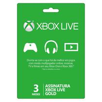 Assinatura Xbox Live 3 Meses Gold - Microsoft -