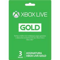 Assinatura Xbox Live Gold Card de 3 meses 2YP-00014