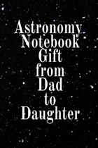 Astronomy Notebook Gift From Dad To Daughter - Inge baum