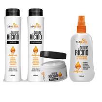 Atacado 24 óleo de rícino shampoo condicionador máscara mahair -