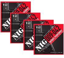 Atacado Kit 4 Encordoamento Nig Para Guitarra Elétrica 009 -