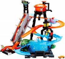 Ataque do Jacaré Lava Rápido Hot Wheels City - Mattel FTB67 -