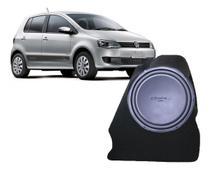Auto Falante Sub Unlike Cara Preta 12 Pol Vw Fox + Caixa -