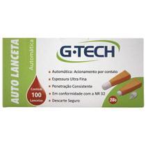 Auto Lanceta Automática G-Tech 28g - 100 Unidades - Accumed