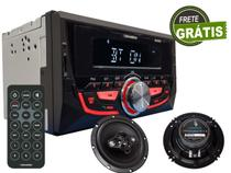 Auto Radio 2 DIN Bluetooth Fm Mp3 Let Cores Par Alto Falantes 6'' 120w Portasl Top - Roadstar