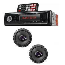 Auto Radio Automotivo Bluetooth e Par Alto Falante Triaxial 6 Polegadas Pioneer -