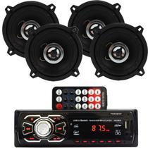 Auto Radio Automotivo Bluetooth Sd Mp3 + Par 5''+ 5'' Prime - First Option