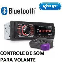 Auto Rádio Com Bluetooth Aparelho Som Automotivo Rádio Carro - Knup