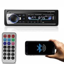 Auto Radio Mp3 Bluetooth 4x60w Potencia Usb Sd Aux Bt Carro - Lm Electronics