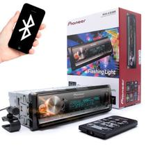 Auto Rádio MP3 Pioneer Mvh-x300br Mixtrax Flashing Light Bluetooth usb Controle remoto - Pionner