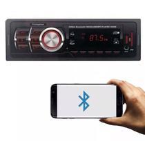 Auto rádio MP3 Player Automotivo Firstoption 8850B Bluetooth USB SD Card AUX P2 FM RCA - First option
