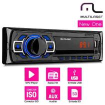 Auto Radio Multilaser NEW ONE MP3/FM/USB/SD CARD AUX P3318