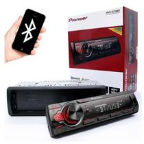 Auto Rádio Pioneer Bluetooth Am Fm Usb Mvh-S218bt -
