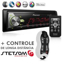Auto Radio Pioneer Mitrax MVH-X588BT Usb Mp3 Bluetooth Android IOS + Controle Longa Distância SX2 Br -