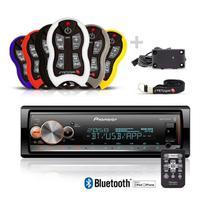 Auto Radio Pioneer Mvh-x300br bluetooth + Controle Longa Distancia Stetsom Sx2 500 Metros -
