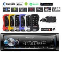 Auto Radio Pioneer Usb Mvh-x700br + controle Stetsom -