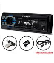 Auto Radio Positron Sp2310bt, Mp3 Bluetooth Usb Leitor Micro Sd Card 45w